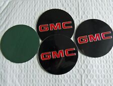 "4 Wheel Center Cap Logo Sticker Decal Emblem Black 3.5"" 88mm GMC 1500 2500 3500"