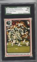 1976 Fleer #48 Philadelphia Eagles SGC 88 near mint to mint