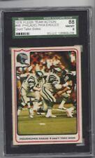 1976 Fleer #48 Philadelphia Eagles SGC 88 near mint to mint