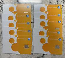 New - At&T Sim Cards Nano Sealed 10 pack 17-8821 Cell Phones Triple Cut