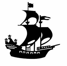 Pirate Ship vinyl Decal / Sticker