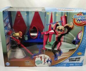 "Mattel DC Comics Super Hero Girls Poison Harley Quinn Figure Bedroom Set 6"""