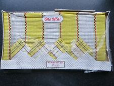 OLD MILL IRISH LINEN CHECKED TABLECLOTH AND 4 NAPKINS, BOXED, VINTAGE