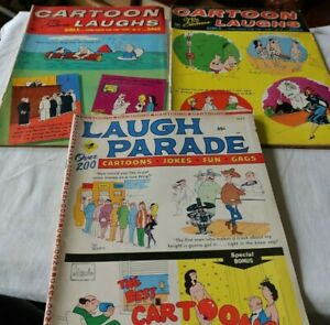 LOT Vintage Cartoon Laughs & Laugh Parade Adult Comics Books Magazines 1960's NR