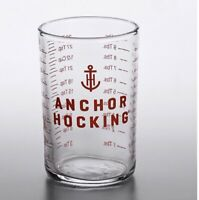 ANCHOR HOCKING 5 oz Clear Glass Measuring Cup Bar Tools-Jigger Shot Glass NEW