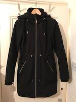 Jessica Simpson Ladies Black Coat With Hood Waterproof Wind proof