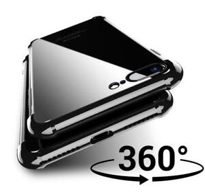 Front Tempred Glass Screen Protector & Clear Back Case for Iphone E X XR XS MAX