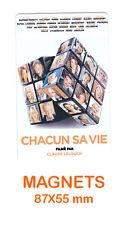 JOHNNY HALLYDAY  magnet / aimant   5,5 cm x 8,7 cm   CHACUN SA VIE