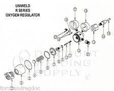 Repair Kit Uniweld Ro Rob R Series Oxygen Regulator Seat Only Rebuild Aurork