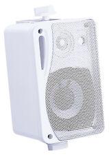 2 x Mini Speakers e-audio Monitor Speakers Incl Wall Bracket B416 White