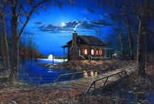 Jim Hansel End of the Road Signed and Numbered Cabin print  29 x 19