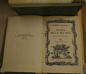 STORIA DELLA MIA VITA, VOL.IX, Casanova, Corbaccio 1925. Prima Inte. Ediz. Ital.