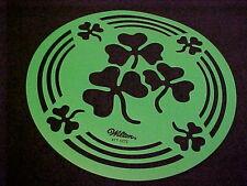 Wilton Cake Stencil Template Shamrock St Patricks Day Stencil