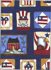 Americana Stand Proud 1 Fat Quarter cotton fabric quilt quilting holiday decor