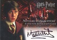 Harry Potter and the Prisoner of Azkaban Matthew Lewis Autograph Card