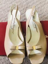 Salvatore Ferragamo ' Neckie' Ipen Toe Sandals 8.5B NWD