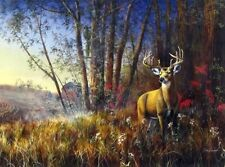 """Jim Rownd /""""Missed Opportunity/"""" Boy Deer Hunting Print Signed Numbered 24/"""" x 8.5"""