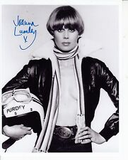 JOANNA LUMLEY HAND SIGNED PHOTO CARD 10X8 AS PURDEY SEXY STUNNING ITEM