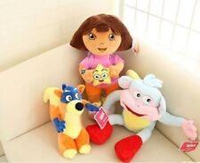 3pcs Dora The Explorer Swiper Fox Boots Monkey Backpack Map Plush Toy Soft Doll