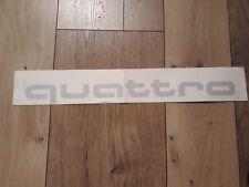 Original Audi quattro aufkleber silber