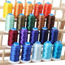 POLYESTER MACHINE EMBROIDERY THREAD SET 20 ROYAL COLORS - 1000M CONES - 40WT