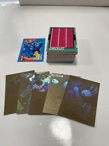 1992 Marvel X-Men Series 1 Trading Cards COMPLETE SET PLUS 5 HOLOGRAMS Jim Lee