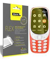 3x Nokia 3310 Film de protection d'écran, recouvre 100% de l'écran, dipos Flex