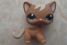 Littlest Pet Shop RARE Standing Cat #1170 Short Hair Brown Curl Mocha Tan LPS