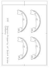 Parking Brake Shoe-Disc Rear Dash 4 Brake B797