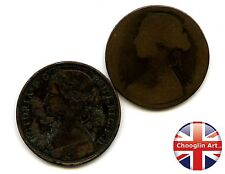 A pair of British Bronze 1863 VICTORIA PENNY Coins               (Ref:1863_62/3)