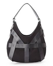PERRIN PARIS Black Etalon Hobo Bag Handbag Purse Sac