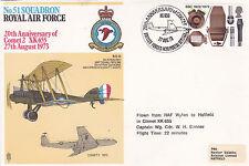 GB 1973 RAF 20th aniversario de cometa escuadrón 2 51 Cubierta Conmemorativa