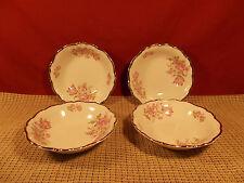"Edelstein Bavarian China Florette Pattern Set of 4 Fruit Bowls 5 3/8"""