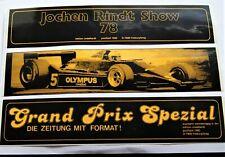 Aufkleber Jochen Rindt Show 1978 GP Spezial F1 Lotus edition rindelhardt