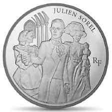 FRANCE 10 Euro Argent BE 2013 Littérature Julien SOREL - Silver coin