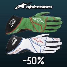 ALPINESTARS TECH 1-KX Karting Gloves Green, White kart race CLEARANCE SALE