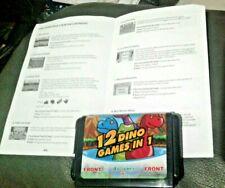 Sega Genesis video game 12 Dino Games In 1 cartridge 12 in 1 disc kid teen