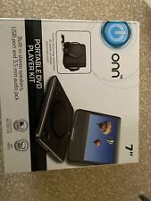 """Onn Portable DVD Player Kit 7"""" Screen Includes Headphones, Carrying Bag, Remote"""