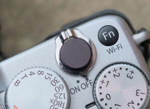High Quality Shutter Button Soft Release Metal Flat Black PenF Fuji XT3 etc