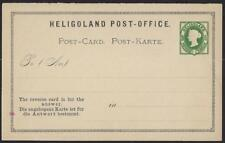 GERMANY HELIGOLAND 1875 3F 5pf QUEEN VICTORIA POSTAL RESPONSE CARD UNUSED