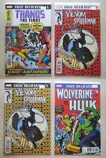 Venom vs Spider-Man #1 Thanos #1 LOT 1st/2nd print TRUE BELIEVERS Unread 9.2 NM-