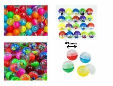 Toy Filled Capsules Kids Plastic Balls Vending Machine Stock Refills 65mm