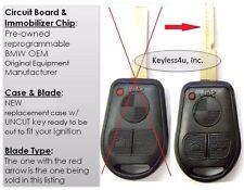 Uncut BMW 3 5 7 Series keyless remote transmitter fob key fab entry LX8FZV chip
