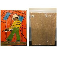 Vtg Judy Instructo Wooden Puzzle African American Black Construction Worker 1974