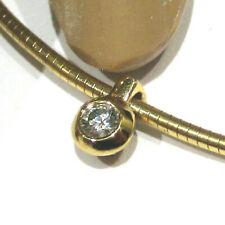1.650.-€ Lupenreines Brillant-Collier Omega-Schnur 585 Gold/ 750 Gold halsnah 💎
