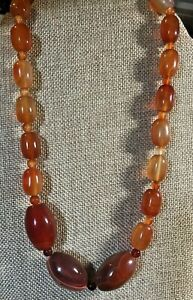 """Jay King Orange/Red Lace Agate 20"""" Necklace  NWT"""