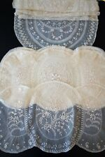 ANTIQUE LACE - SUPERB FRENCH NORMANDY LACE PLACEMATS,TABLE RUNNER