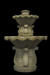 Desert Gold Fountain Indoor Outdoor Granite 2 Tier Wall Water Modern FT-12
