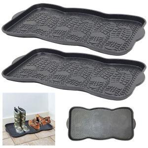 Plastic Shoe Tray Boots Wellies Garden Home Door Plants Multi Purpose Storage