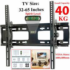 """Tilt TV Wall Mount Bracket with Built-In Tri Spirit Level For 32""""-65"""" TV LED LCD"""